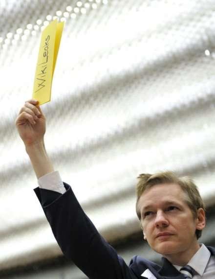 Założyciel Wikileaks Julian Assange, fot. AFP