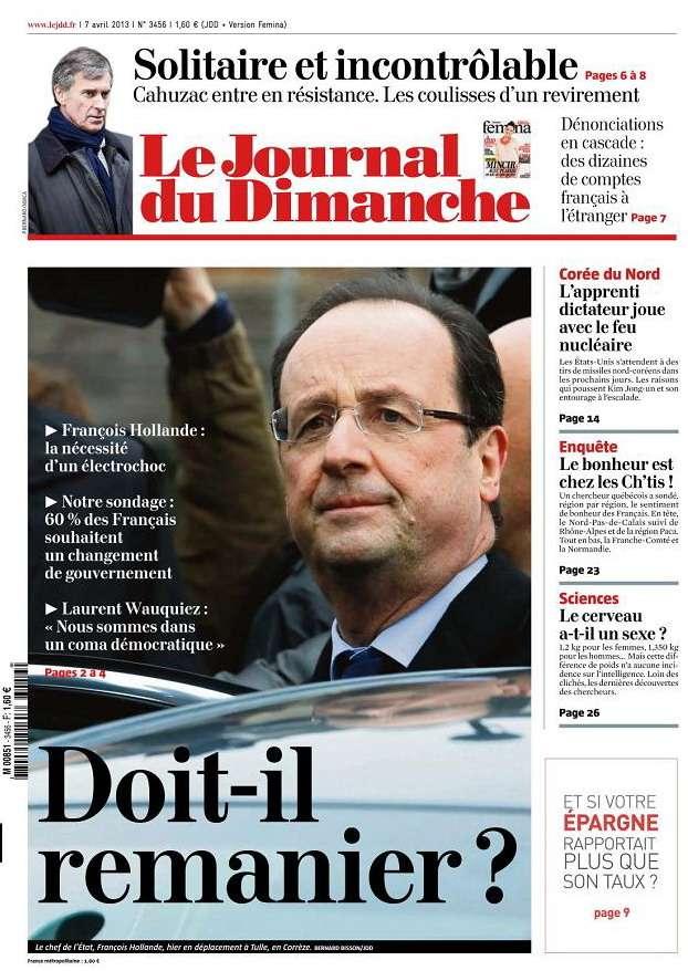 Le Journal Du Dimanche 7 Avril 2013