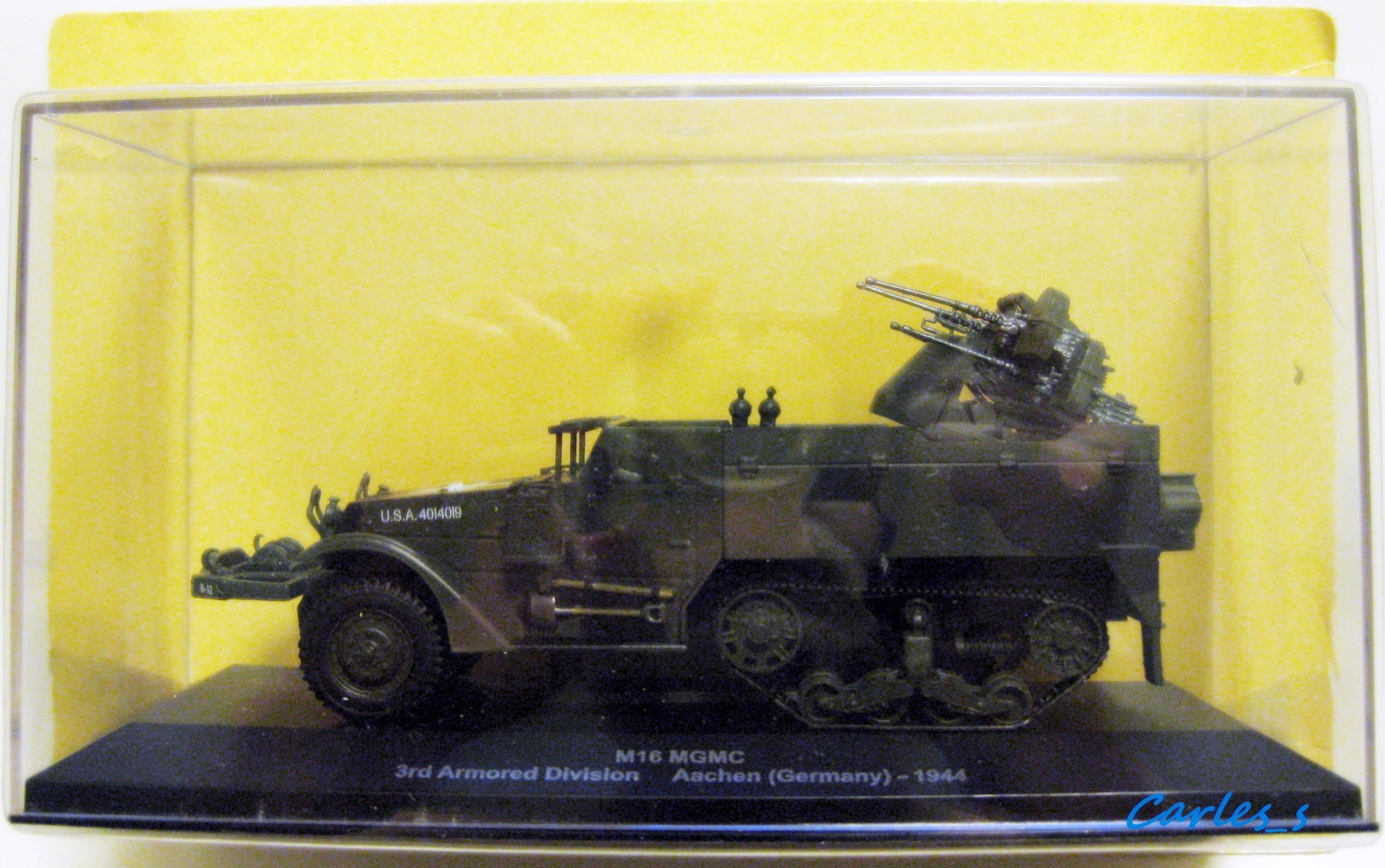 M16 MGMC Aachen (Germany) 1944 1/43 Eaglemoss - tank tanque char truck
